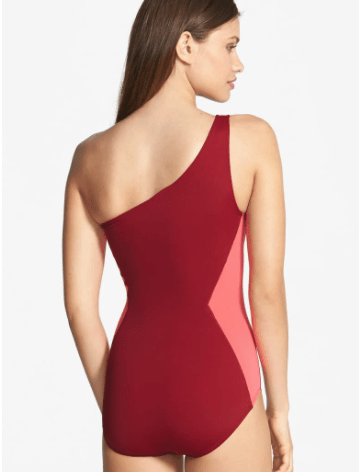Colorblock One-Shoulder