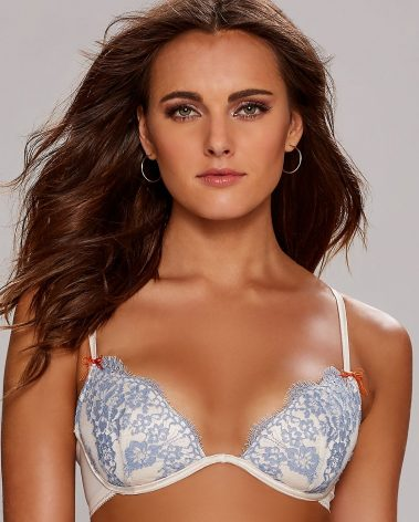 Isola Nel Cielo stretch-lace plunge bra